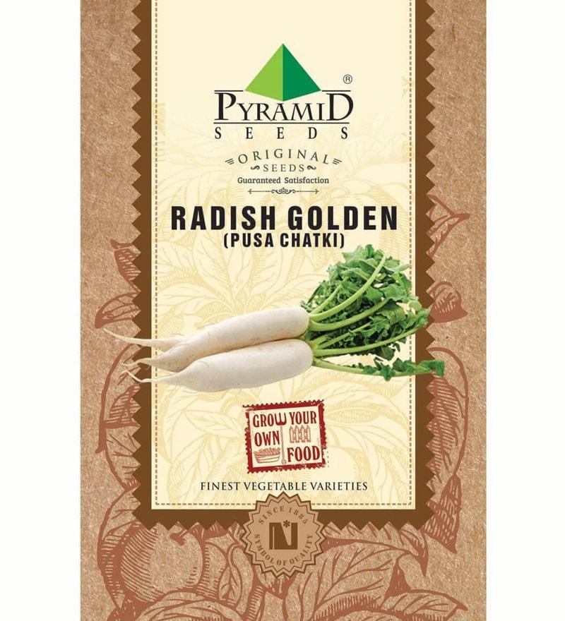 Radish Golden (Pusa Chatki) Seeds by Pyramid Seeds