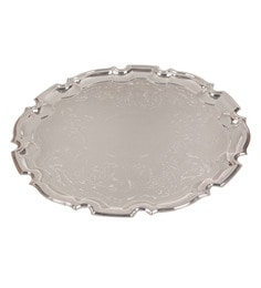 Queen Anne Silver Plated 25Th Happy Anniversary Big Tray
