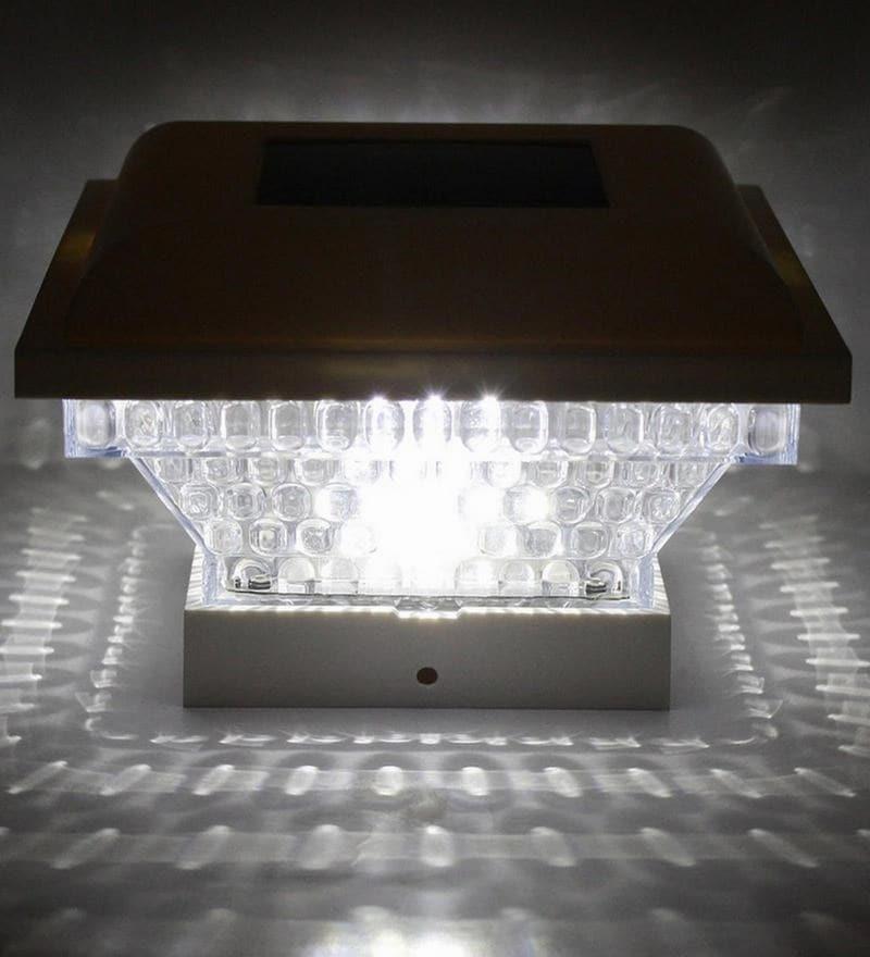 Solar Pillar Modern Residential LED Gate Post Pillar Light by Quace