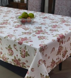 R Home Multicolour Flower Print Table Cover