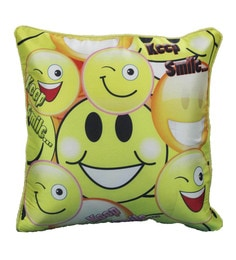 R Home Multicolour Polyester 16 X 16 Inch Digital Print Cushion Covers - Set Of 5 - 1598285