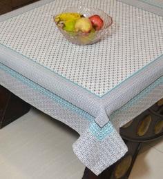 R Home Printed Cotton Table Cover, Multicolour, 100 X 100 CM