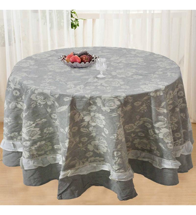 R Home Multicolour Cotton Table Cover ( Model No: RHTL 103R )