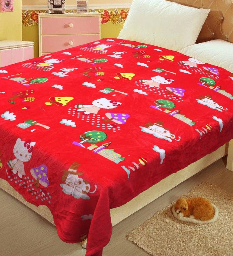 R Home Multicolour Mink 94 x 94 Inch Blanket