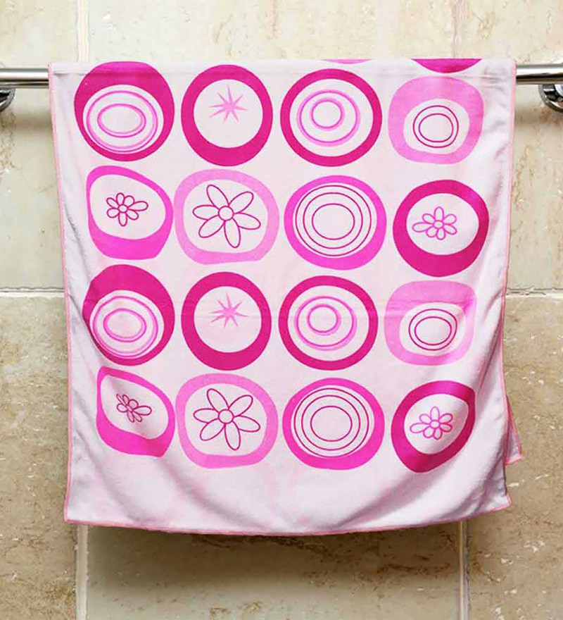 R Home Pink Terry Cotton 27 x 54 Bath Towel