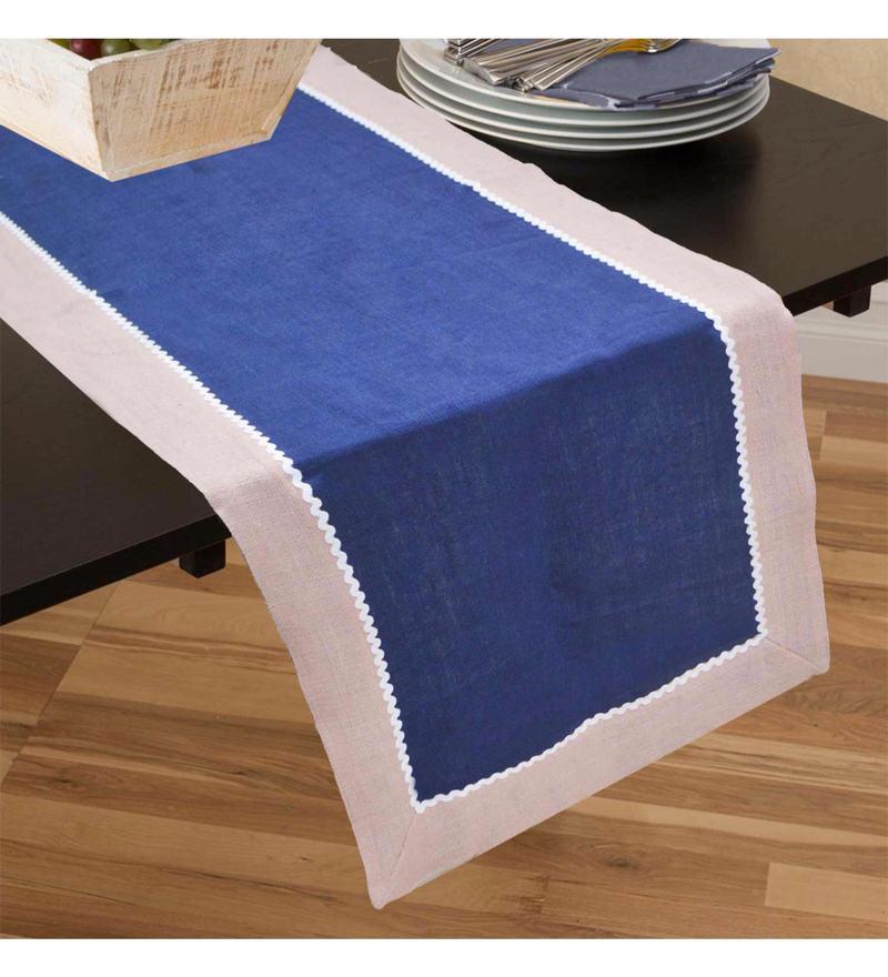 R Home Stonewash Multicolour 100% Linen Table Runner