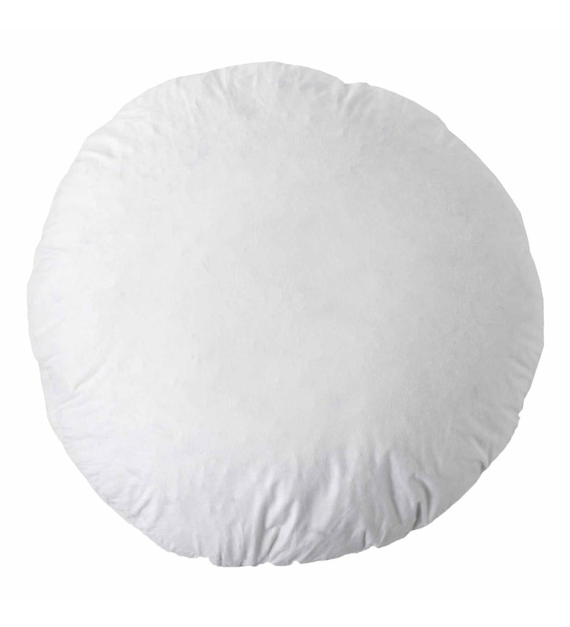 R Home White Polyester 16 Daimeter Cushion Fillers