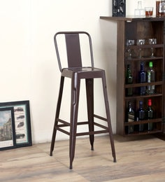 Raglan Bar Stool In Brown Colour