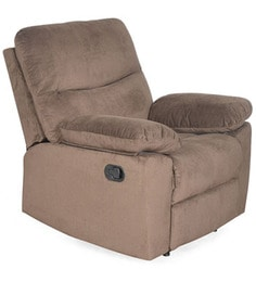 Rays Single Seater Recliner in Brown Colour by @home @ Home@ Home at pepperfry