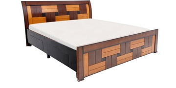 Rado Queen Bed With Storage In Brown Colour