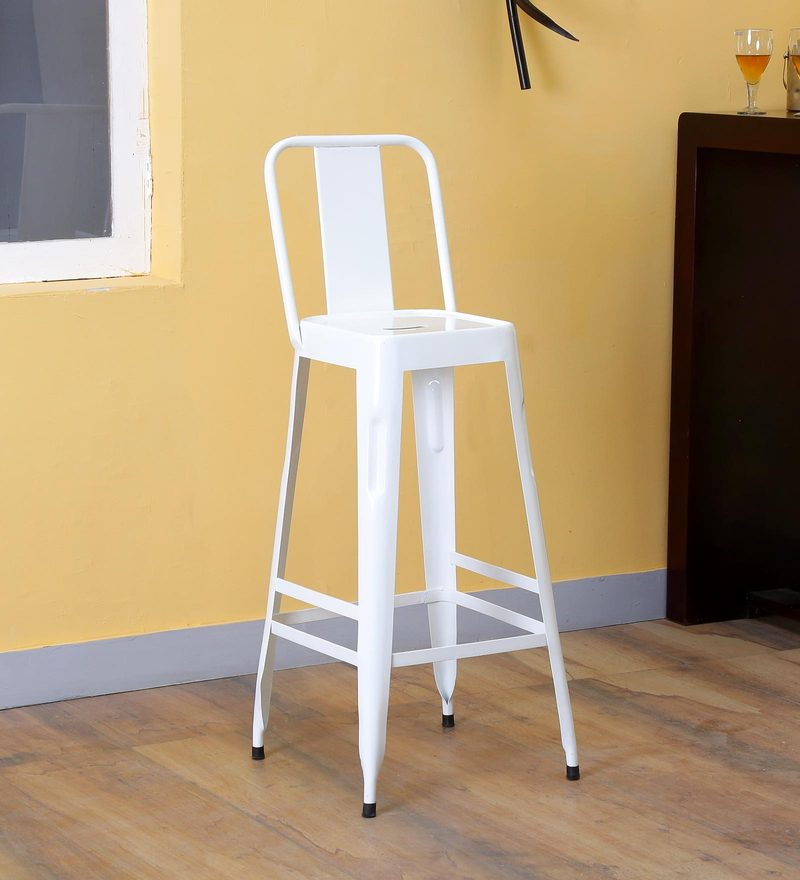 Raglan Bar Chair in White Color by Bohemiana