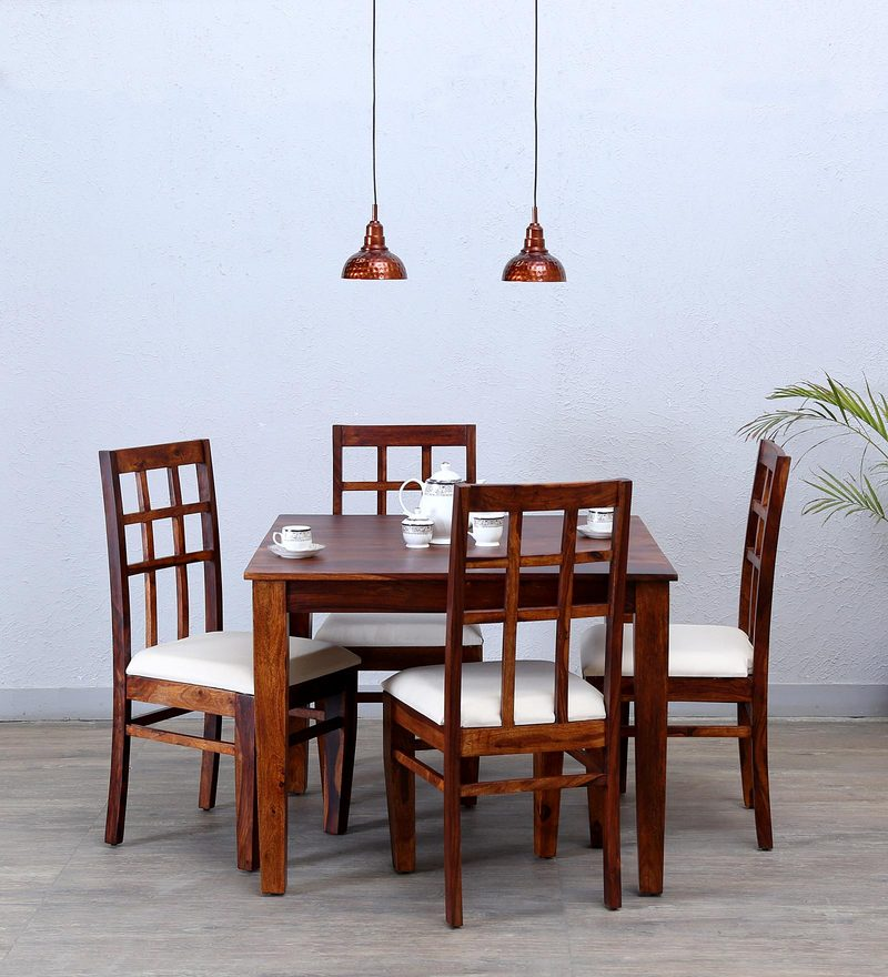 Raliegh Four Seater Dining Set in Honey Oak Finish by Woodsworth
