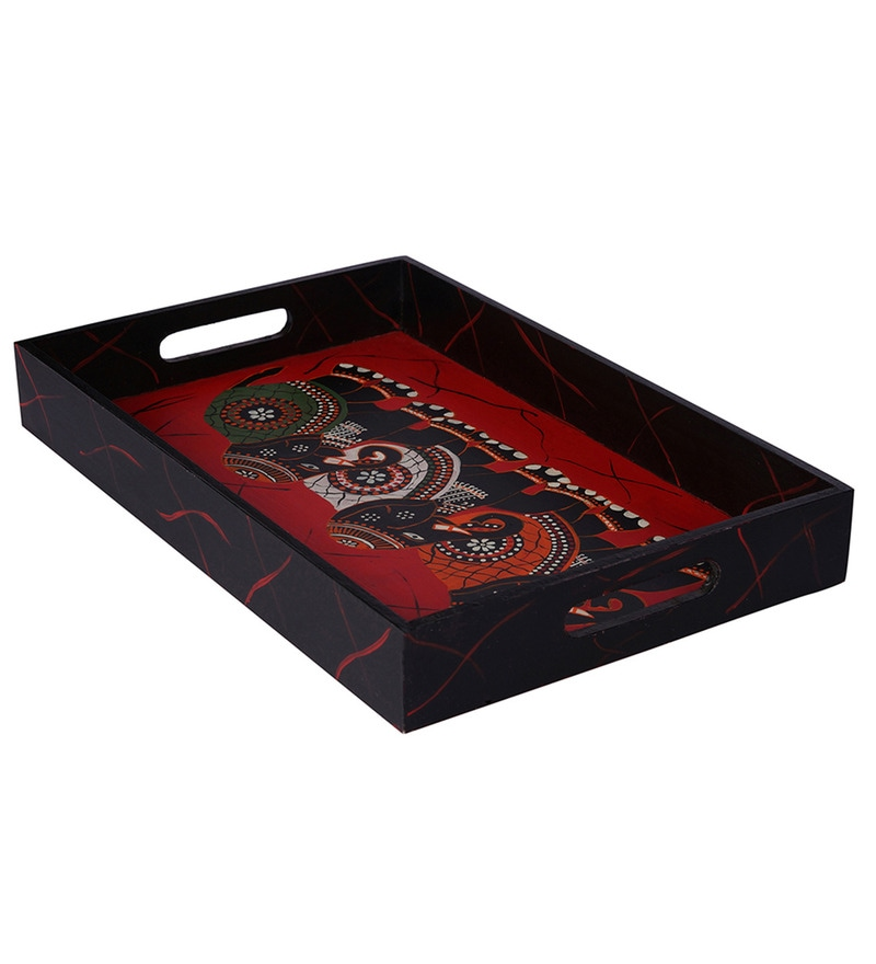 Rang Rage Regal Celebration Hand Painted Tray