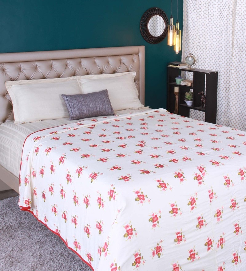 Red 100% Cotton Double Size Dohar by Raymond Home