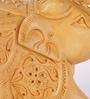 Rajrang Brown Wooden Floral Hand Carved Handicraft