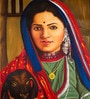 Canvas 30 x 42 Inch Lady Unframed Painting by Rajrang