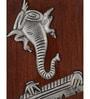Rajrang Brown Iron & Wood Framed Lord Ganesha Wall Frame