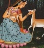 Paper 3.5 x 5 Inch Traditional Alluring Unframed Painting by Rajrang