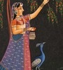 Paper 3.5 x 5 Inch Traditional Enticing Unframed Painting by Rajrang