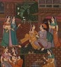 Paper 5.5 x 9 Inch Shapley Traditional Unframed Painting by Rajrang