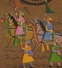 Paper 9 x 13 Inch Charming Traditional Unframed Painting by Rajrang