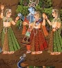 Rajrang Paper 9 x 14 Inch Lord Radha Krishna Enticing Unframed Painting