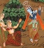 Paper 9 x 14 Inch Lord Radha Krishna Superb Unframed Painting by Rajrang