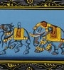 Rajrang Silk & Paper 11 x 3 Inch Beautiful Elephant Unframed Painting