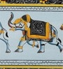 Silk & Paper 11 x 3 Inch Elegant Elephant Unframed Painting by Rajrang