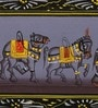 Silk & Paper 11 x 3 Inch Ethnic Elephant Unframed Painting by Rajrang