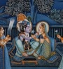 Silk & Paper 15 x 7 Inch Lord & Painting Unframed Painting by Rajrang