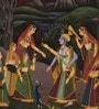 Rajrang Silk & Paper 7 x 9 Inch Splendid Lord Radha Krishna Unframed Painting