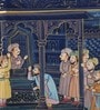 Silk 11 x 8 Inch Lovely Traditional Unframed Painting by Rajrang