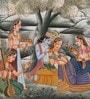 Silk 12 x 9 Inch Beautiful Unframed Painting by Rajrang