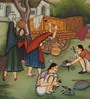 Silk 13 x 9 Inch Fascinating Ethnic Unframed Painting by Rajrang