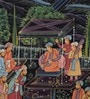 Silk 8 x 11 Inch Resplendent Traditional Unframed Painting by Rajrang
