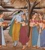 Silk 9 x 12 Inch Lord Radha Krishna Unframed Painting by Rajrang