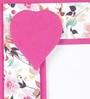 Rajrang White & Pink Handmade Paper Floral Printed Photo Frame
