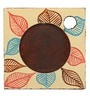 Rang Rage Classy Flower Multicolour Wooden Coasters - Set of 6