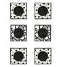 Rang Rage Monochrome Mix Multicolour Wooden Coasters - Set of 6