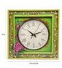 Rang Rage Multicolour Mango Wood 16 x 2.5 x 16 Inch Bloom Square Wall Clock