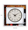Rang Rage Multicolour Mango Wood Abstract Square Wall Clock