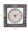 Rang Rage Multicolour Mango Wood Earth Square Wall Clock