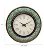 Multicolour MDF 16 Inch Round Mystic Rajasthan Round Wall Clock by Rang Rage