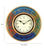 Multicolour MDF 16 Inch Round Tribal Round Wall Clock by Rang Rage