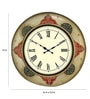 Multicolour MDF 16 Inch Round Vintage Royal Round Wall Clock by Rang Rage