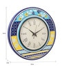 Rang Rage Multicolour MDF 16 Inch Spring Aztec Hand Painted Round Wall Clock