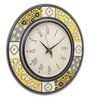 Rang Rage Multicolour MDF 16 Inch Vintage Reclaim Hand Painted Round Wall Clock