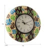 Multicolour MDF 9 Inch Green Spring Hand Painted Round Wall Clock by Rang Rage