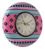 Rang Rage Multicolour MDF 9 Inch Pink Pleasure Hand Painted Round Wall Clock